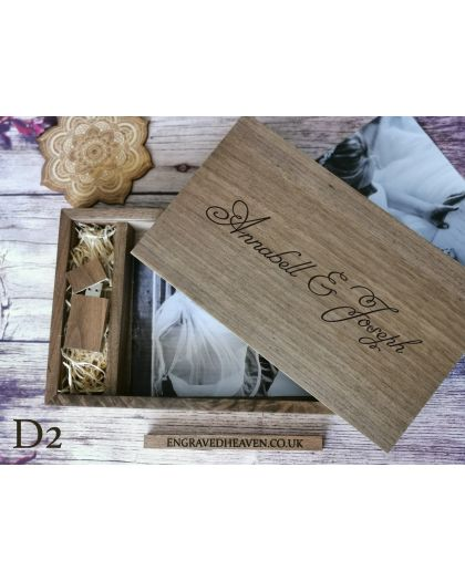 Exclusive Wooden usb memory with box for 7x5