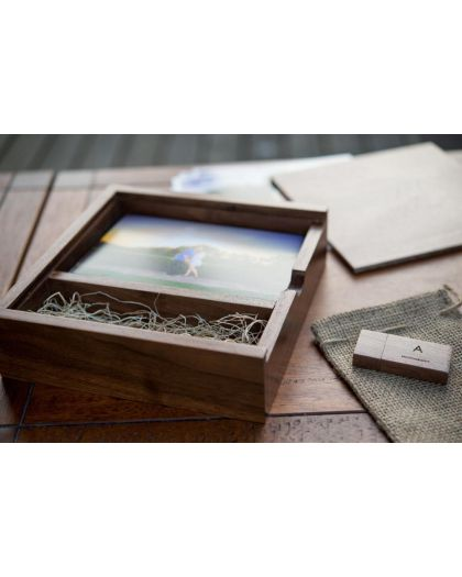 Exclusive Wooden usb memory with box for 6x4