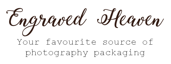 Engraved Heaven - Your favourite source of photography packaging - Personalised usb memory sticks and wedding boxes
