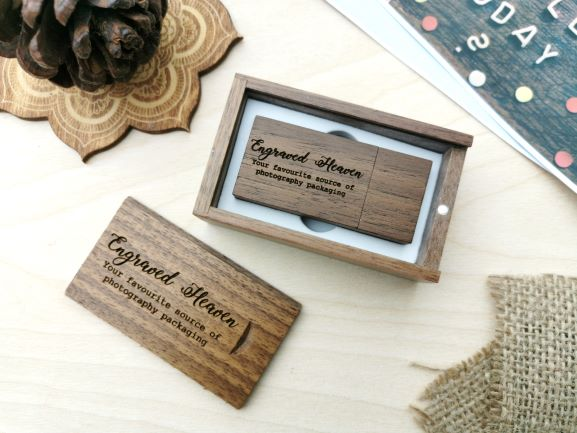 usb memory stick for photographers wedding usb in wooden presentation box photography packaging