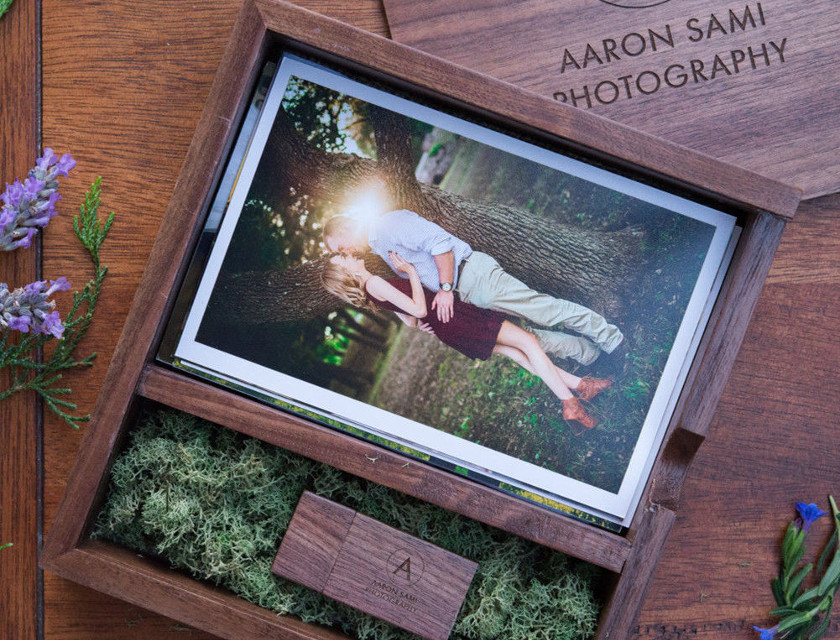 usb memory stick for photographers wedding usb in wooden photo album box photography packaging photo prints
